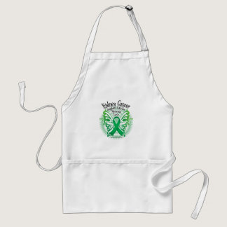 Kidney Cancer Butterfly 3 Adult Apron