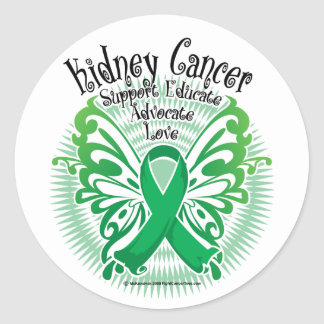 Kidney Cancer Butterfly 3 Classic Round Sticker