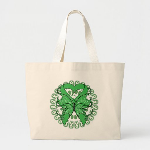 Kidney Cancer Butterfly Circle of Ribbons Canvas Bag