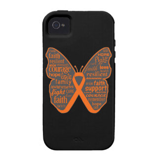 Kidney Cancer Butterfly Collage of Words Case-Mate iPhone 4 Covers