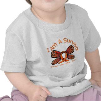 Kidney Cancer Butterfly I Am A Survivor v2 Shirt