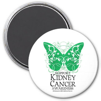 Kidney Cancer Butterfly Magnet