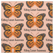 Kidney Cancer Butterfly of Hope Fabric