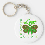 Kidney Cancer Butterfly Peace Love Cure Keychains