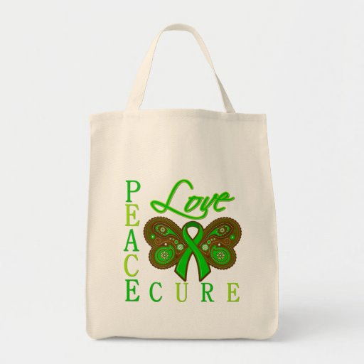 Kidney Cancer Butterfly Peace Love Cure Tote Bag