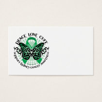Kidney Cancer Butterfly Tribal Business Card