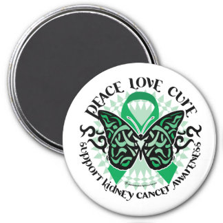 Kidney Cancer Butterfly Tribal Magnet