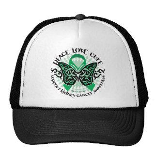 Kidney Cancer Butterfly Tribal Trucker Hat