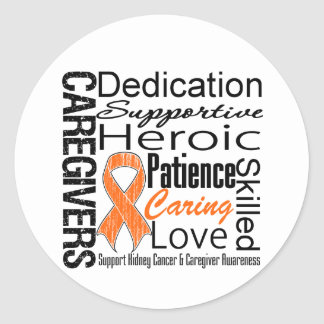 Kidney Cancer Caregivers Collage v1 Classic Round Sticker
