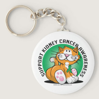 Kidney Cancer Cat Keychain
