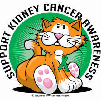 Kidney Cancer Cat Statuette