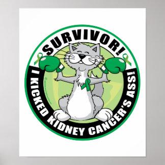 Kidney Cancer Cat Survivor Poster