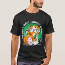 Kidney Cancer Cat T-Shirt