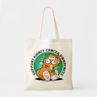 Kidney Cancer Cat Tote Bag