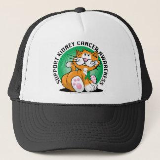 Kidney Cancer Cat Trucker Hat