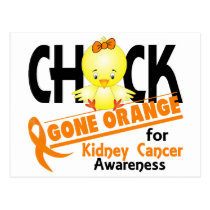 Kidney Cancer Chick Gone Orange 2 Postcard
