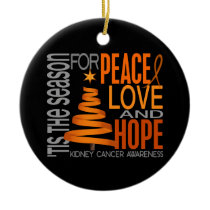 Kidney Cancer Christmas 1 Ornaments