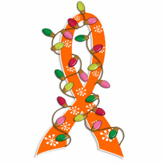 Kidney Cancer Christmas Lights Ribbon Photo Cut Outs