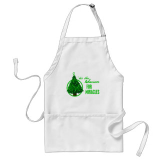 Kidney Cancer Christmas Miracles Adult Apron