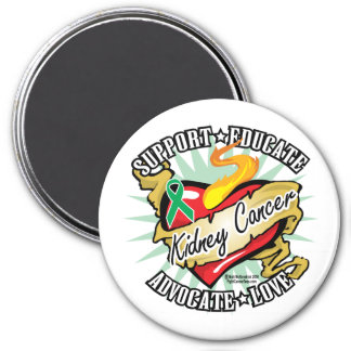 Kidney Cancer Classic Heart Magnet
