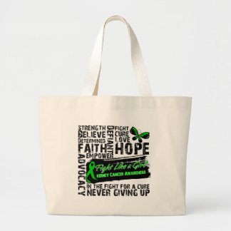 Kidney Cancer Collage - Fight Like a Girl Bag