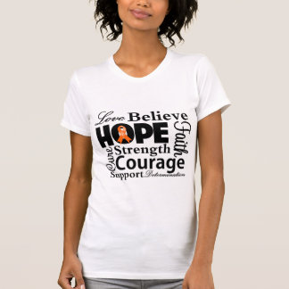 Kidney Cancer Collage of Hope 2 Tees