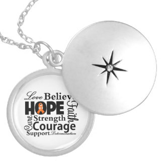 Kidney Cancer Collage of Hope Pendant