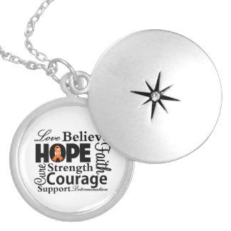 Kidney Cancer Collage of Hope Round Locket Necklace