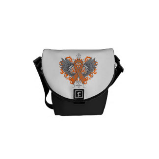 Kidney Cancer Cool Awareness Wings Courier Bag