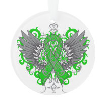Kidney Cancer Cool Awareness Wings Ornament