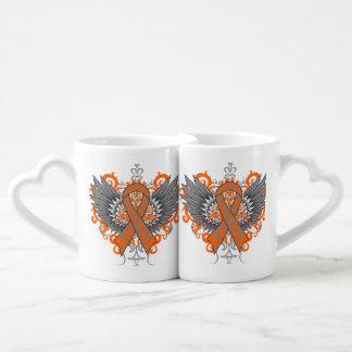 Kidney Cancer Cool Awareness Wings Lovers Mug Sets