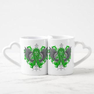 Kidney Cancer Cool Awareness Wings Couples Mug