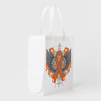 Kidney Cancer Cool Awareness Wings Reusable Grocery Bags
