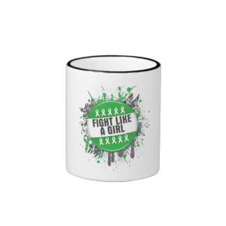 Kidney Cancer Cool Button Fight Like a Girl Coffee Mug