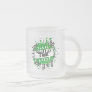 Kidney Cancer Cool Button Fight Like a Girl Mugs