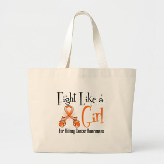 Kidney Cancer Cool Retro Fight Like a Girl 2 Tote Bags