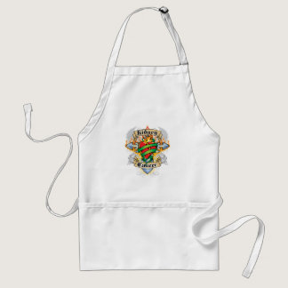 Kidney Cancer Cross & Heart Adult Apron