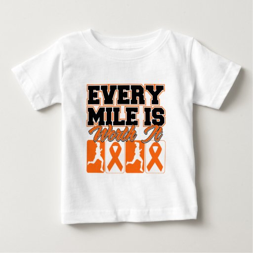 Kidney Cancer Every Mile is Worth It 2 T-shirt