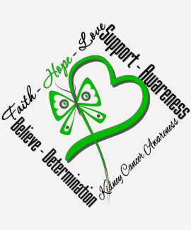 Kidney Cancer Faith Hope Love Green Butterfly T-shirts