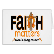 Kidney Cancer Faith Matters Cross 1 Card