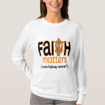 Kidney Cancer Faith Matters Cross 1 T-Shirt
