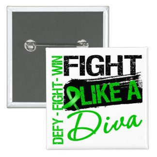 Kidney Cancer - Fight Like a Diva 2 Inch Square Button