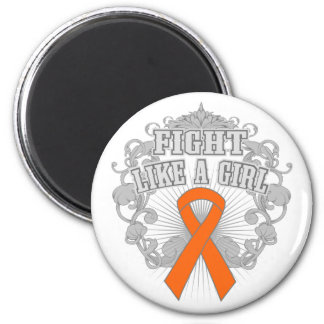 Kidney Cancer Fight Like A Girl Fleurish 2 2 Inch Round Magnet