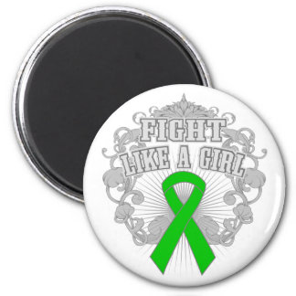 Kidney Cancer Fight Like A Girl Fleurish 2 Inch Round Magnet