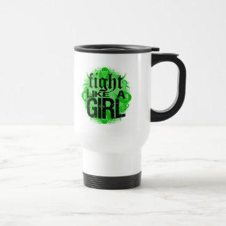 Kidney Cancer Fight Like A Girl Rock Ed. 15 Oz Stainless Steel Travel Mug