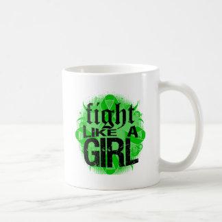 Kidney Cancer Fight Like A Girl Rock Ed. Classic White Coffee Mug