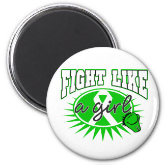 Kidney Cancer Fight Like A Girl Sporty Callout Fridge Magnet