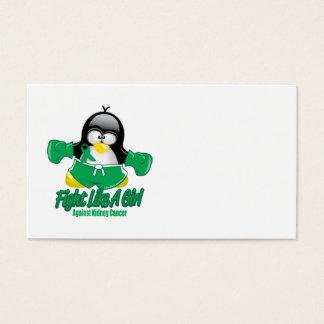 Kidney Cancer Fighting Penguin Business Card