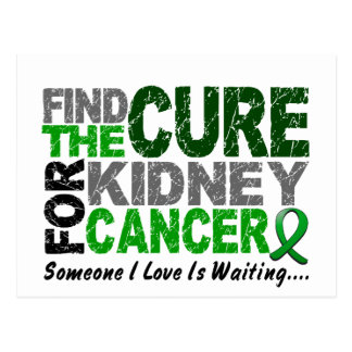 Kidney Cancer FIND THE CURE 1 (Green) Postcard