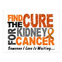 Kidney Cancer FIND THE CURE 1 (Orange) Postcard